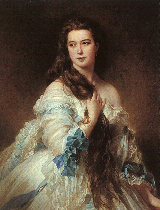 Portrait of Madame Rimsky-Korsakov, 1864  Painting Reproductions