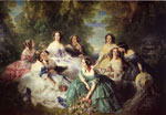 Winterhalter, Franz Xavier The Empress Eugenie Surrounded by her Ladies in Waiting, 1855 Art Reproductions