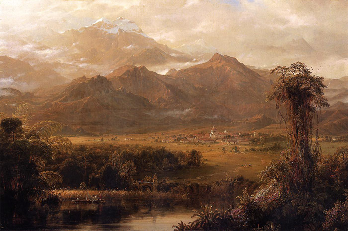 Mountains of Ecuador, 1855  Painting Reproductions