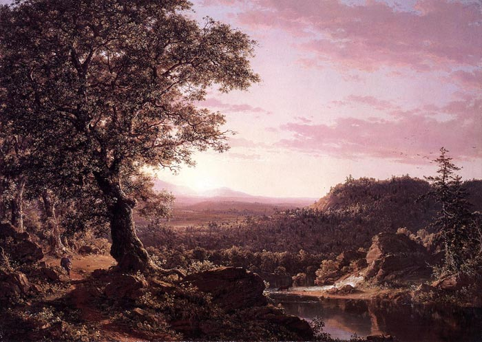 July Sunset, Berkshire County, Massachusetts, 1847  Painting Reproductions