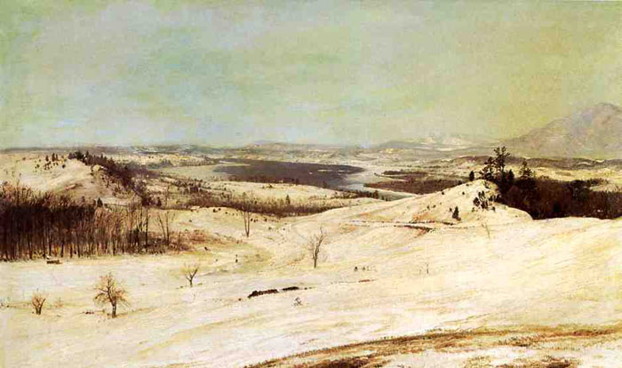 View from Olana in the Snow, 1870-1873  Painting Reproductions