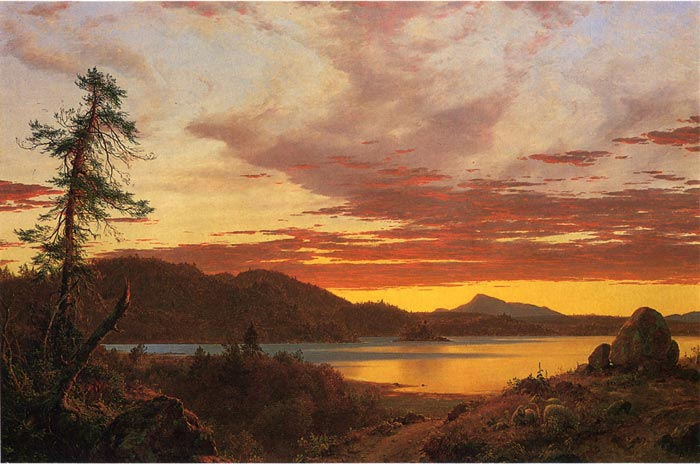 Sunset, 1856  Painting Reproductions