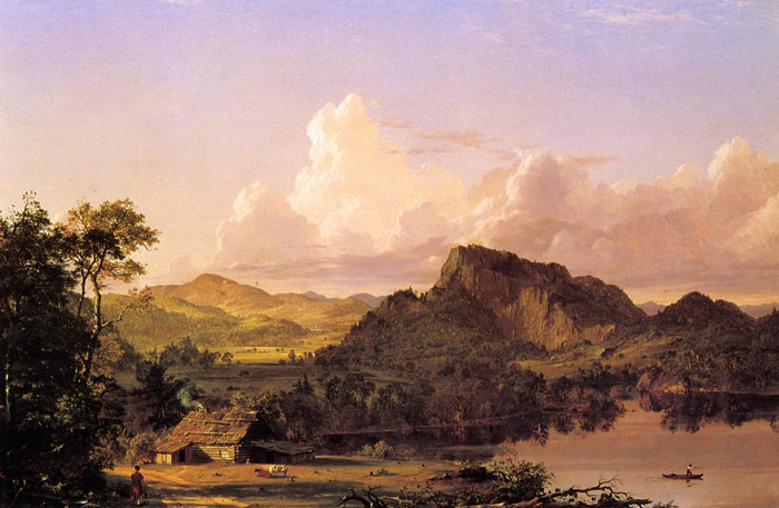 Home by the Lake, 1852  Painting Reproductions