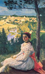 Bazille, Frederick View of the Village, 1868 Art Reproductions