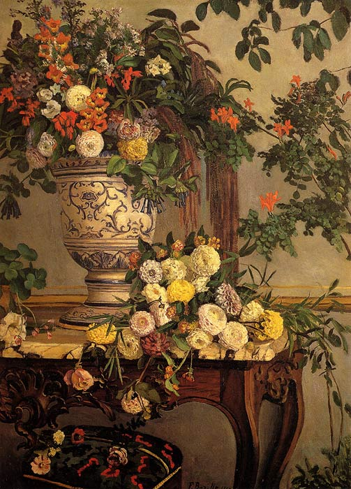 Flowers, 1868 Bazille, Frederick Painting Reproductions