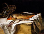 Bazille, Frederick Still Life with Fish, 1866 Art Reproductions