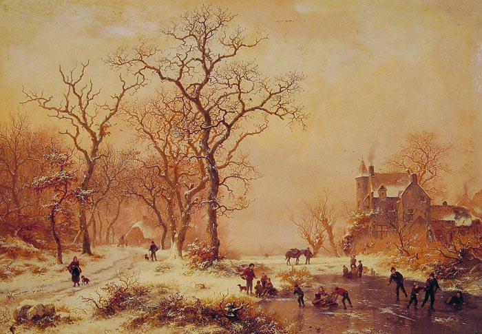 Ice Skating, 1882  Painting Reproductions