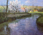 Thaulow, Frits A French River Landscape Art Reproductions