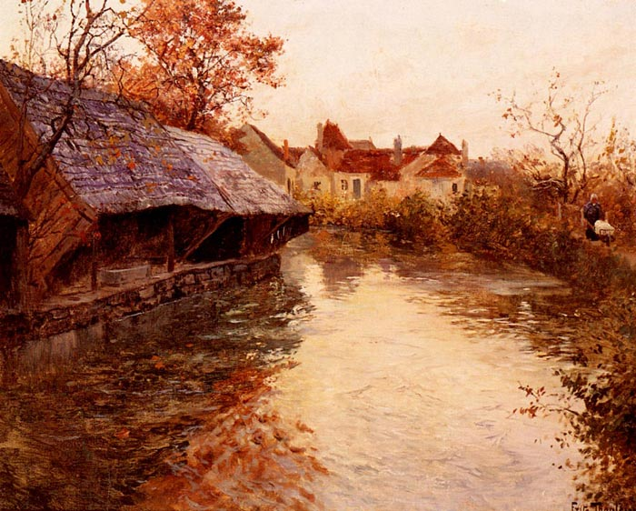 A Morning River Scene, 1891  Painting Reproductions
