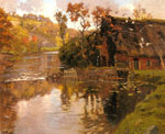 Thaulow, Frits Cottage By A Stream Art Reproductions