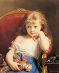 Zuber-Buhler, Fritz Young Girl Holding a Doll Art Reproductions