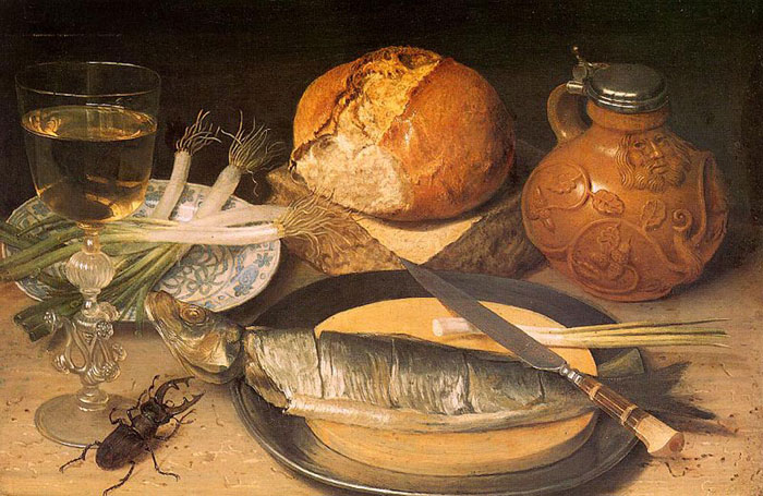 Fish Still Life with Stag-Beetle, 1653  Painting Reproductions