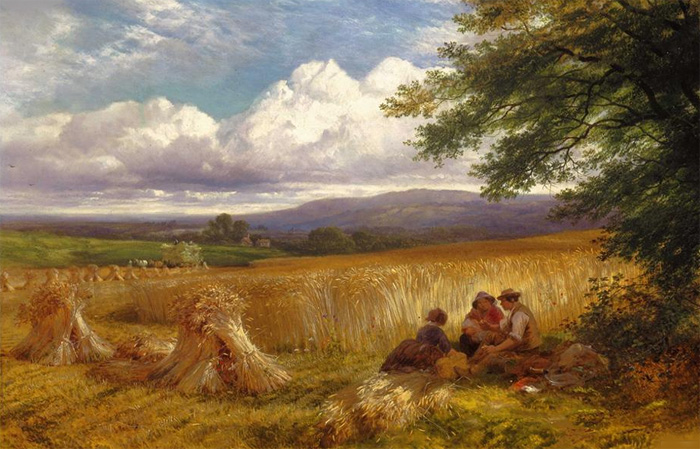 Harvest rest , 1865  Painting Reproductions