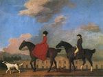 Stubbs  George John and Sophia Musters Out Riding at Colwick Hall, 1777 Art Reproductions
