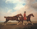 Stubbs  George William Anderson with Two Saddled Horses, 1793 Art Reproductions