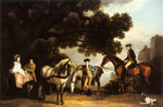 Stubbs  George The Milbanke and Melbourne Families, c. 1769 Art Reproductions