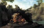 Stubbs  George Lion Devouring a Horse, 1763 Art Reproductions