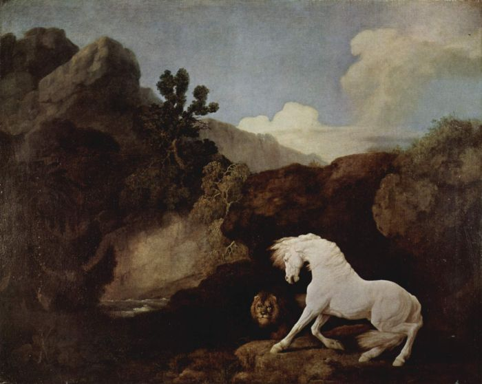 The Lion and the Frightened Horse, 1770  Painting Reproductions