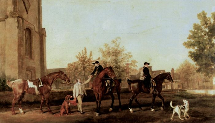 Hunters Leaving  Southill, 1763  Painting Reproductions