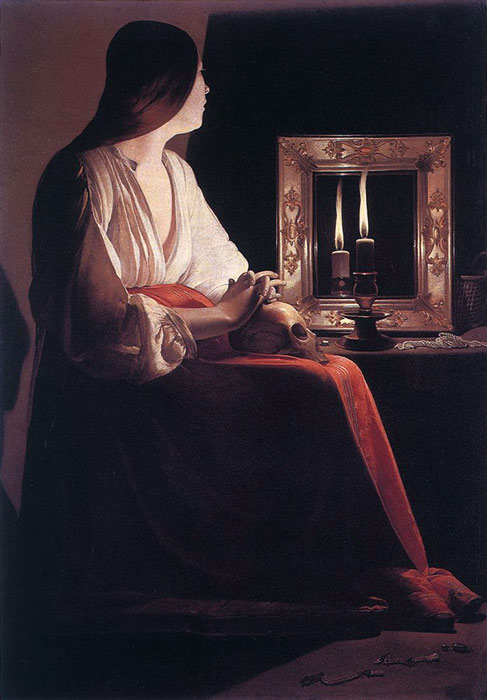 The Penitent Magdalen, 1638-1643  Painting Reproductions