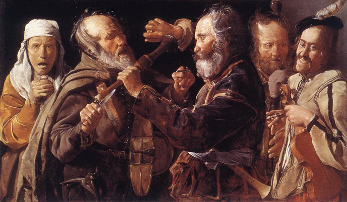 Quarrelling Musicians, 1625-1630  Painting Reproductions