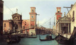 Canaletto, Giovanni Antonio Canal View of the Entrance to the Arsenal, 1732 Art Reproductions