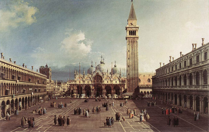 Piazza San Marco with the Basilica, 1730  Painting Reproductions
