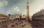 Canaletto, Giovanni Antonio Canal Piazza San Marco with the Basilica, 1730 Art Reproductions
