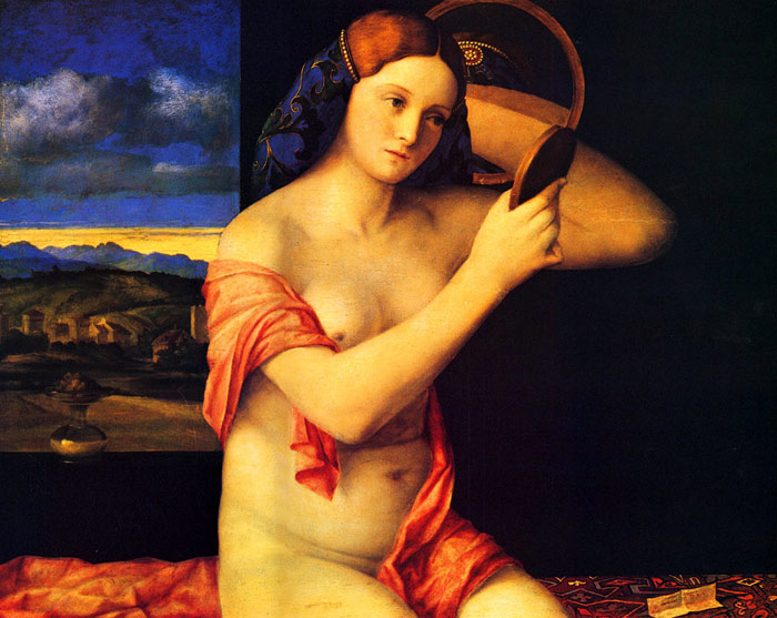 Young Woman at her Toilet , 1515 Bellini, Giovanni Painting Reproductions