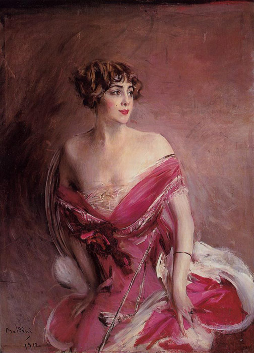 Portrait of Mlle de Gillespie, 'La Dame de Biarritz', 1912  Painting Reproductions