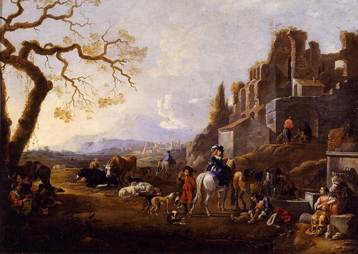 Landscape With Figures, 1667  Painting Reproductions