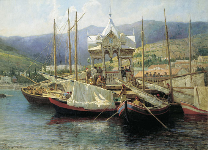 Ialta Harbour  Painting Reproductions
