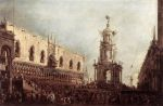 Guardi, Francesco Carnival Thursday on the Piazzetta, 1766 Art Reproductions