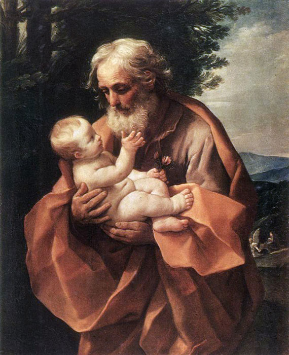 St Joseph with the infant Jesus,  c.1635  Painting Reproductions