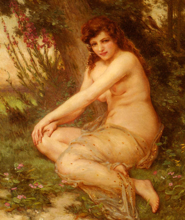 La Nymphe De Foret [The Forest Nymph]  Painting Reproductions