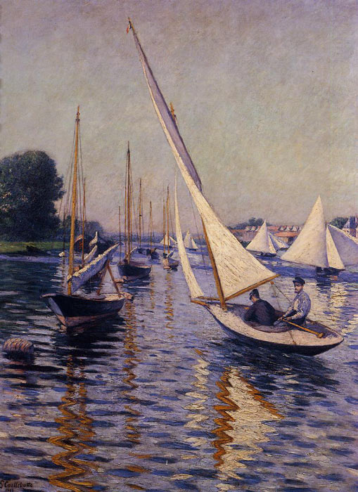Regatta at Argenteuil, 1893  Painting Reproductions