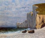 0 A Bay with Cliffs, c.1869 Art Reproductions