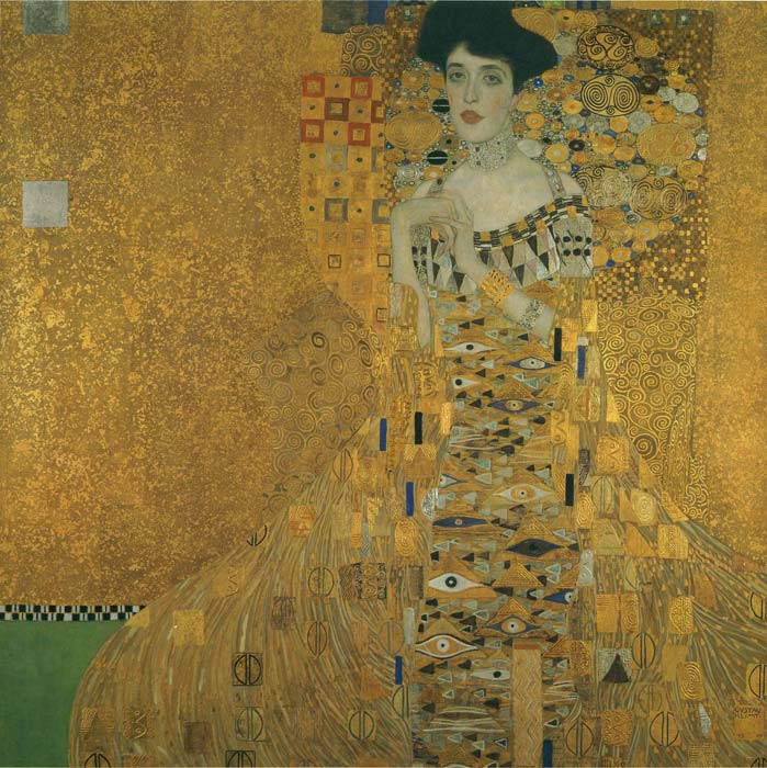 Portrait of Adele Bloch-Bauer, 1907 Klimt, Gustave Painting Reproductions
