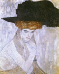 Klimt, Gustave Lady with a Hat, 1910 Art Reproductions