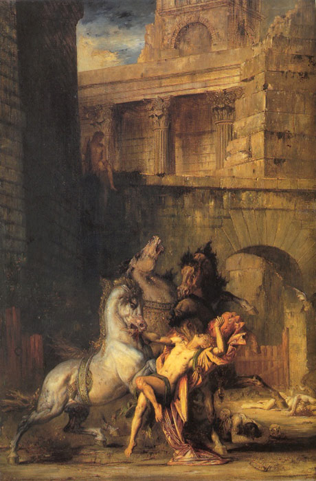 Diomedes Devoured by his Horses, 1865  Painting Reproductions