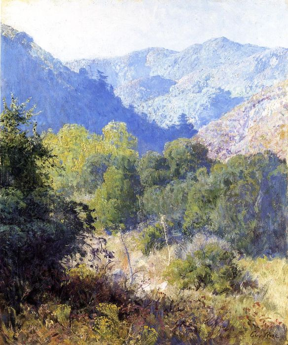View in the San Gabriel Mountains  Painting Reproductions