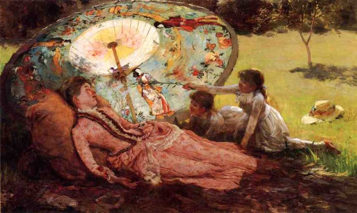 Lady with a Parasol  Painting Reproductions