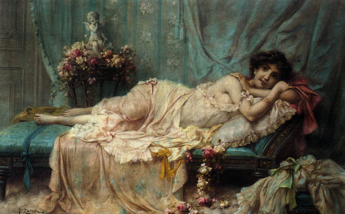 Reclining Beauty  Painting Reproductions