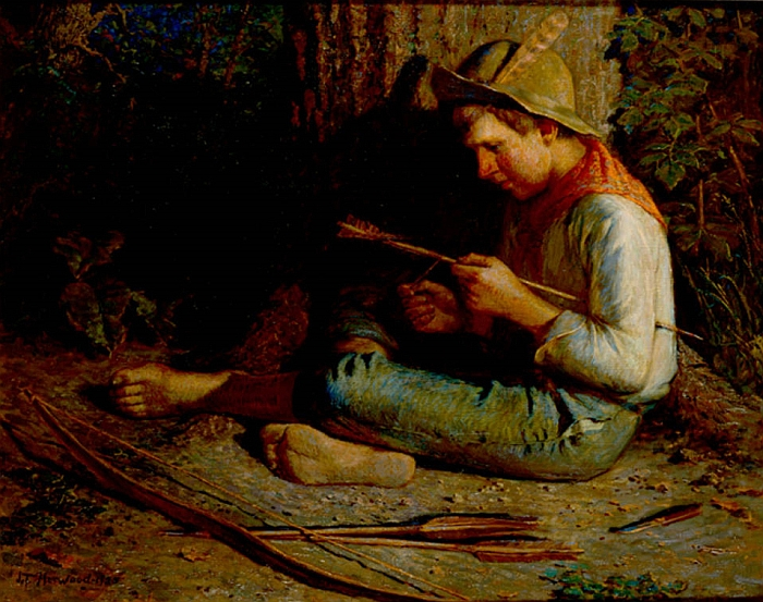 Boy Pioneer, 1907  Painting Reproductions