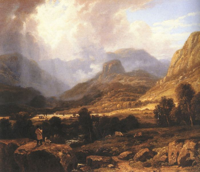 Landscape in the Lake District with the Vale of St. John between Thirlmere and Keswick  Painting Reproductions