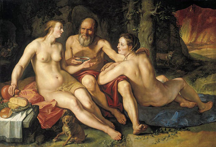 Lot and his Daughters, 1616  Painting Reproductions