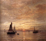 Mesdag, Hendrik Willem Coucher De Soleil, 1894 Art Reproductions