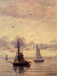 Mesdag, Hendrik Willem Evening Anchorage Art Reproductions