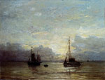 Mesdag, Hendrik Willem Fishing Boats Near The Coast Art Reproductions