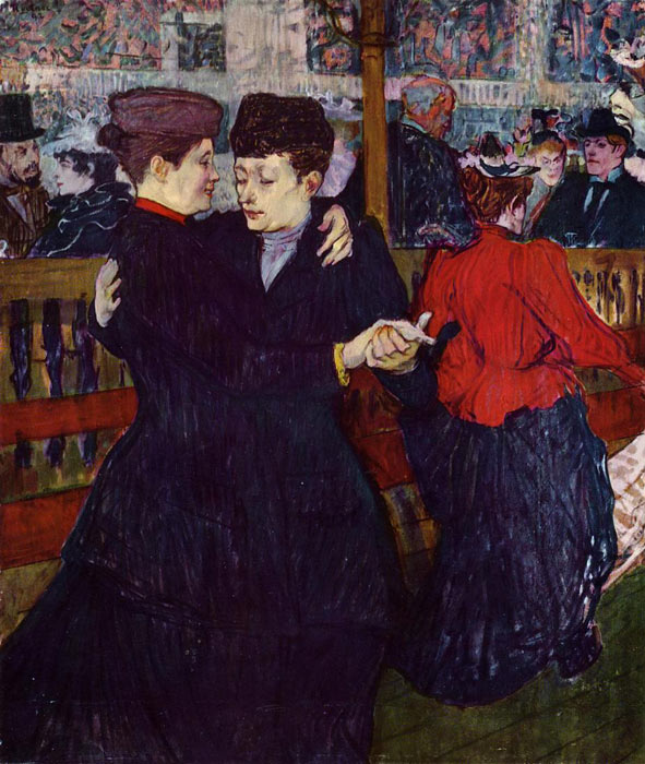 At the Moulin Rouge: the Two Waltzers , 1892	  Painting Reproductions